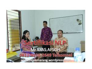 INHOUSETRAINING nlp semarang Mr ilyas afsoh 0821-4150-2649 TELKOMSEL